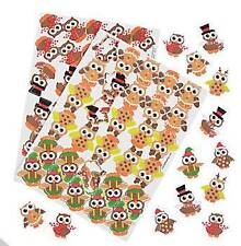 "60 Christmas Owl Foam Stickers Scrapbooking Gifts Elf Rein""owls"" & so much more"