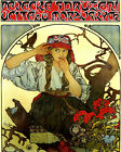 "Alphonse Mucha 1911 Moravian Teachers Choir Girl 16""X20"" Vintage Poster FREE S/H"