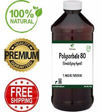 Polysorbate 80 - 100% Pure Oil Soap Making Supplies Bath Body Tween 80 T-Maz 80