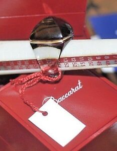Baccarat Crystal Medicis Ring MIST 55 Size 7 LA BAGUE POP mint in box