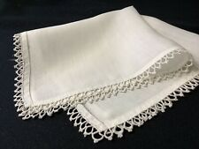 #6394🌟Antique 1800s Cutter Tatted Lace Wedding Lace Handkerchief