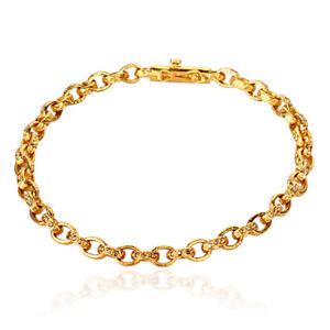 Memoral Day Sale 22k Yellow Gold 0.72ct Diamond Bracelet Handmade Jewelry Women