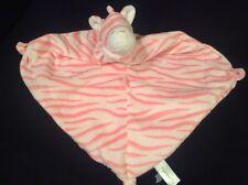 Angel Dear Velour Pink White Zebra Plush Security Blanket Clutch Lovey