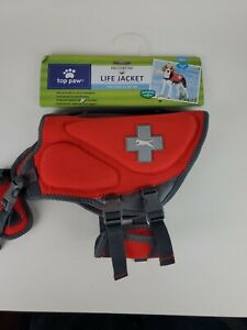 New With Tags Small Red 20 In 15-30 Ibs  Top Paw Dog Dogs Life Vest Preserver