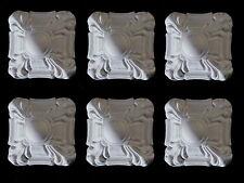Esquina Art Deco cuadrado blanco de resina molduras de muebles soportes de muebles