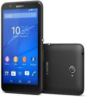 "Brand New SONY XPERIA E4 E2105 5"" 8GB BLACK unlocked Sim free smartphone Genuine"