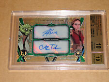 ✨✨ BGS 10 STAR WARS MOVIE 2017 HIGH TEK YODA TOM KANE TABER GREEN AUTO AUTOGRAPH