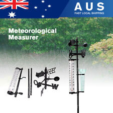 Outdoor Garden Weather Station Meteorological Measurer Vane Tool Rain Gauge Wind