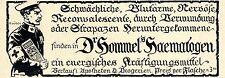 Dr.Hommel's Haematogen KRIEGSWERBUNG Historische Annonce 1917