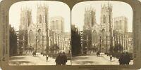 UK Inghilterra York Minster, Foto Stereo Vintage Analogica PL62L6