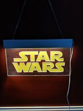 Vintage Star Wars Light Up Acrylic Display Sign