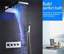 "9""x22"" Thermostatic Colourful Wall Led Shower System Polished Stainless Steel"