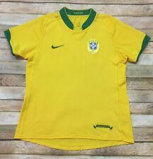 Nike Sphere Dry BRAZIL JERSEY Vtg 2006-2008 Soccer Football Yellow WOMENS LARGE