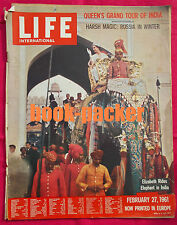 Life INTERNATIONAL February 27, 1961: Queen in India/Russia in inverno