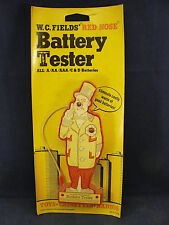 """Collectible Vintage W.C. Fields """"red nose"""" Battery Tester In Original Package"""