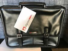 Alpine Swiss Leather Briefcase Laptop Case Messenger Bag