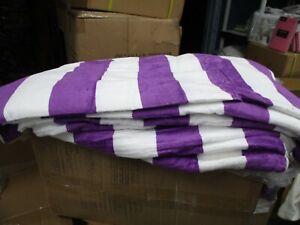 3 Pack Large Beach Resort Pool Towels in Cabana Stripe  30x60 100% COTTON PURPLE
