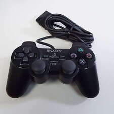 GENUINE DUAL SHOCK CONTROLLER FOR PLAYSTATION 2 PS2 SCPH-10010 BLACK (T17)