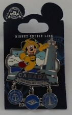 Disney Pin DCL Canada & New England Coast Cruise 2012 Mickey Dangle Pin LE2500