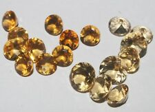 18CRTS NATURAL GEMSTONE BRAZILIAN CITRINE FACETED ROUND CUT 18PCS LOT #674