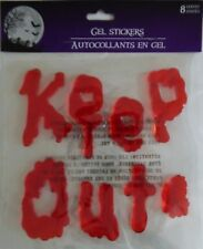 Halloween Bloody Gel Window Cling Stickers ~ Keep Out