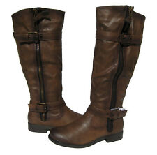 New Women's Riding Boots Brown Shoes Winter Snow Fur Lined Ladies size 8.5