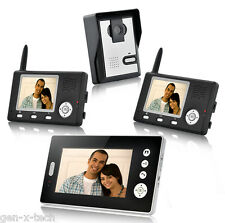 Video Door Phone Camera Intercom System: Night Vision with 3 Wireless Receiver