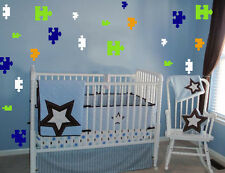 96 PUZZLE PIECES  WALL STICKER DECALS 4 COLORS ROOM DECOR KIDS CHILDREN ART
