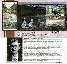 2006 ISAMBARD KINGDOM BRUNEL PANE SIGNED ANGUS BUCHANAN BENHAM FIRST DAY COVER