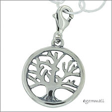 Antique Sterling Silver Circle Tree Clip On Charm #51950