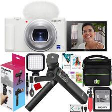 Sony ZV-1 Digital 4K Camera Vlogger Creator's Kit ACCVC1 Shooting Grip Bundle