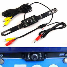 7LEDs IR Night Waterproof Color Wide Angle License Plate Car Rear View Camera