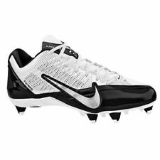 NIKE Alpha Pro Flywire Football Detachable Cleats Mens 599008 100 WHITE BLACK 15
