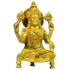 Figura latón Lakshmi 16cm Hinduismo diosa fortuna belleza India decoración
