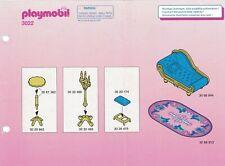 Playmobil Bauanleitung 3022 Königlicher Salon