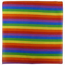 Nouveaux Hommes Dames noir 100% Coton RAINBOW Bandanna / gay pride LGBT motards