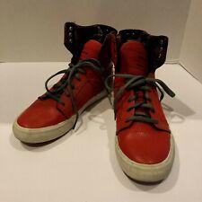 Supra Muska 001 Sneakers Mens Size 6 Red Skater Skateboard High Sky Top Shoes