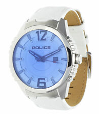 Men's Silver Strap Round Wristwatches with 12-Hour Dial