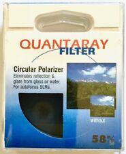 Quantaray Circular Polarizing Filter Polarizer, CPL, 58mm. Original box.