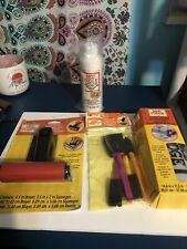 MOD PODGE BUNDLE~BRAYER~SQUEEGEE~PHOTO TRANSFER Liq 8oz~MAT~BRUSH SET GREAT GIFT