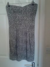 Womens Ladies PUNKY FISH LEOPARD PRINT  Bandeau Dress S/M