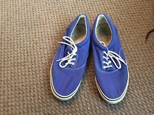 MENS NEW LOOK BLUE DECK SHOES SIZE 9