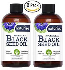 2-Pack - Naturise Black Cumin Seed Oil 100% Pure Cold Pressed Virgin 8 oz