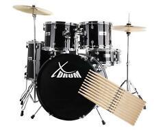 XDrum Semi Schlagzeug Drumset + 5 Paar Sticks 5A Nylon + Drumschool + DVD