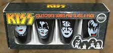 KISS SET OF 4 FACES PINT GLASSES NEW IN BOX