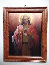 Heiligstes Herz Jesus mit Rahmen Alubild Nr. A / 12 Sonderpreis 2. Wahl