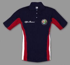 Neu Herren Alfa Romeo Polo T-shirt Auto Fan Bekleidung mit Gestickt embleme
