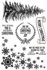 Kaisercraft - clear cling stamps - Frosted Christmas stamps - 6 stamps