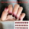 24Pcs Gradient False Nail Tips Natural Full Cover Fake Nails Art Tool With Glue