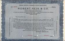 """New listing Robert Reis & Co.Abn """"Specimen"""" Temporary Certificate"""